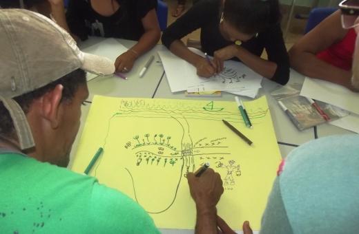 Participantes apontam problemas ambientais da comunidade para construção de indicadores de monitoramento