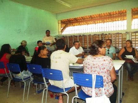 Gestores comunitários fazem exercício de planejamento estratégico