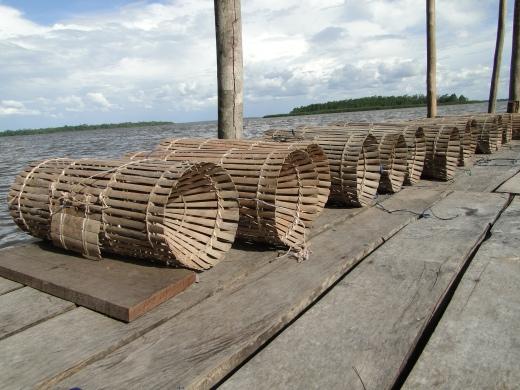O matapi é um dos apetrechos utilizados na pesca artesanal (Foto: Suane Melo)