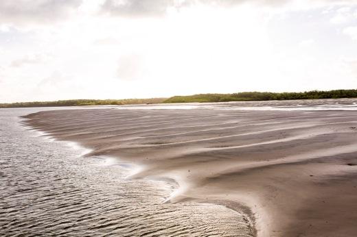 Ilha da Romana, primeira praia em mar aberto após a foz do Rio Amazonas, é uma das atrações do roteiro de EBc (Foto: Rafael Araújo)