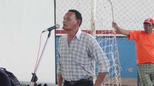 Teodoro Lalor de Lima, líder quilombola de Cachoeira do Arari, em audiência púbica no último dia 13 no município