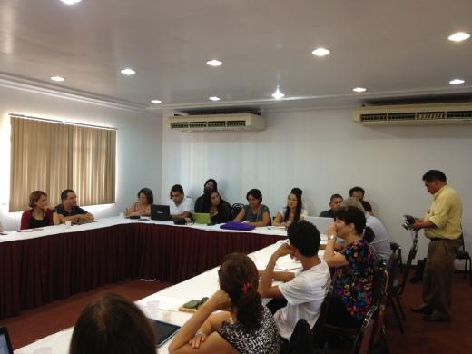 Jornalistas reunidos em fórum sobre megaprojetos em Belém