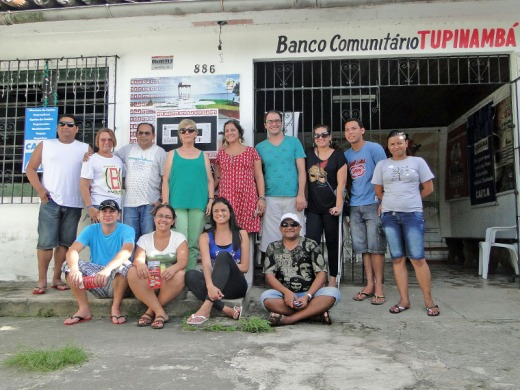 Pose pra foto durante a visita ao Banco Tupinambá