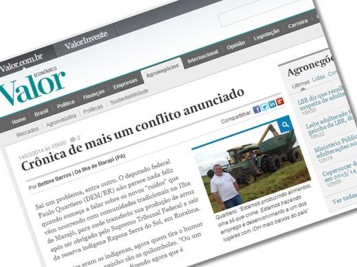 Problemática envolvendo a rizicultura no Marajó foi  tema de matéria do Valor Econômico