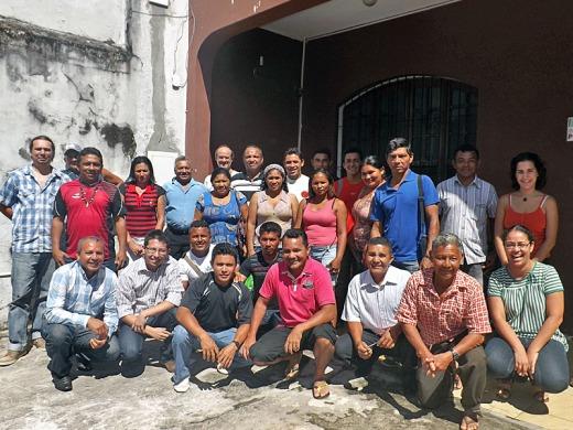 Lideranças e comunitários do Rio Canaticu, de Curralinho (PA), estiveram no Instituto Peabiru