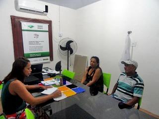 O produtor rural João Francisco, acompanhado de sua esposa, visitaram o Núcleo Operacional no dia 25 de março.