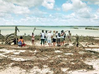 Gravação de reportagem para o especial Criança Esperança, da Rede Globo